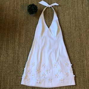 Lilly Pulitzer White Daisy Halter Dress